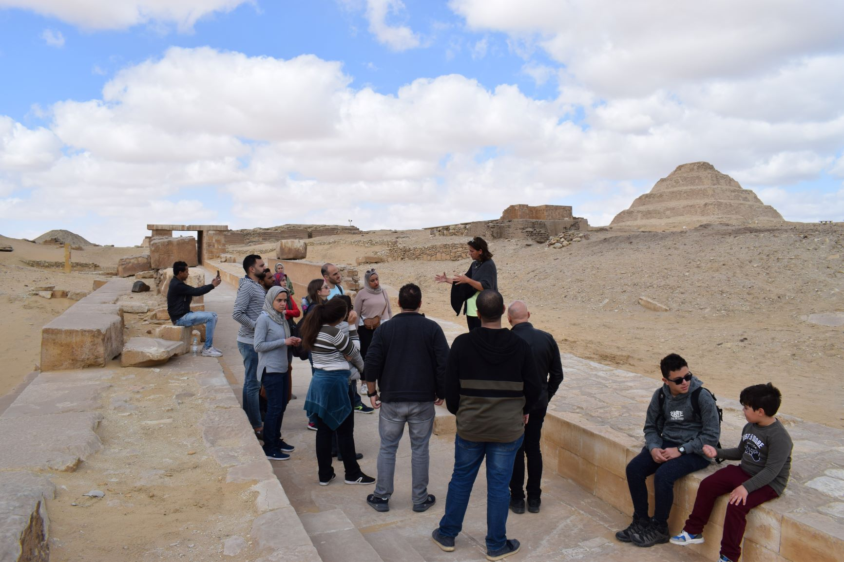 Optomatica teams Giza Pyramids