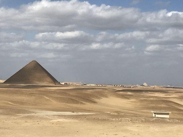 The ancient Saqqara and Dahshur pyramids