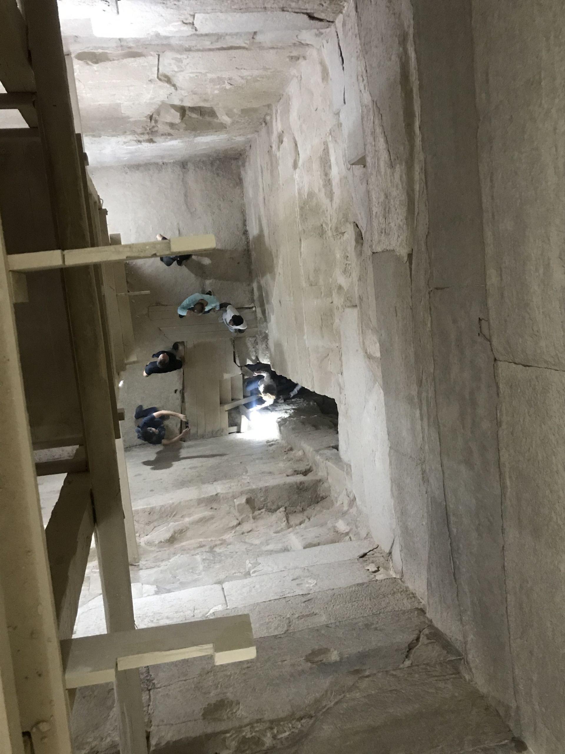 inside Saqqara and Dahshur pyramids