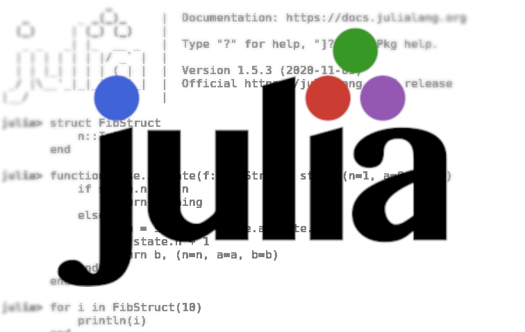 using Julia's capabilities like Iterate, recursion, and closures
