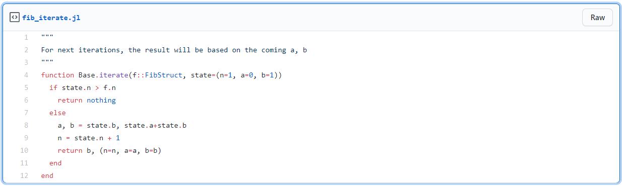 Loops with Julia Julia Iterators
